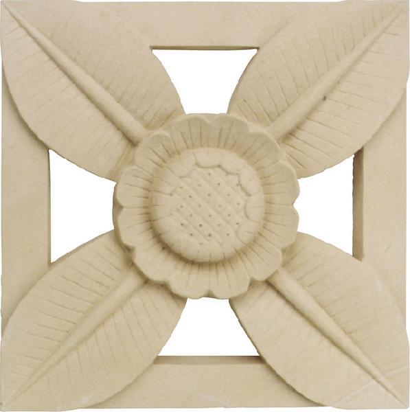 壁飾りブロックス 石 ストーンストーンレリーフ ひまわり3030 飾りブロック 外壁 外構工事