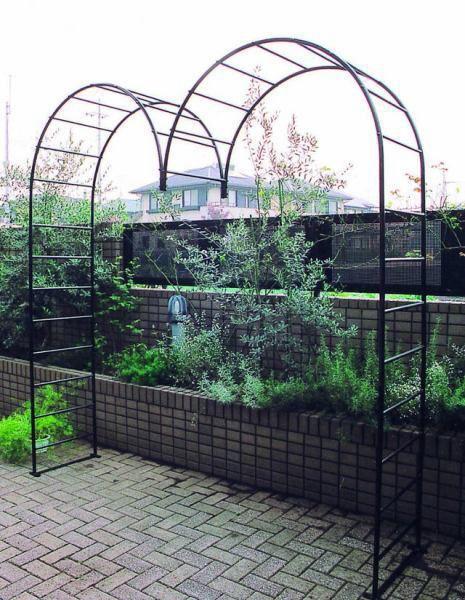 アイアン ガーデンアーチ M型 バラ アーチ ガーデンファニチャー 園芸用品 つる植物・薔薇の誘引