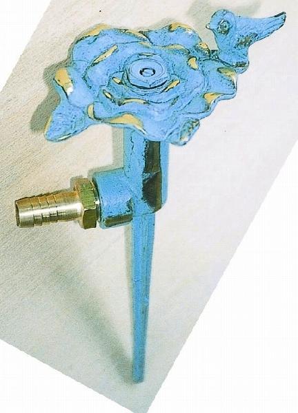 スプリンクラーフラワー散水栓バラ・スズメ青銅色 ガーデングッズ 水遣り 水やり 散水用品