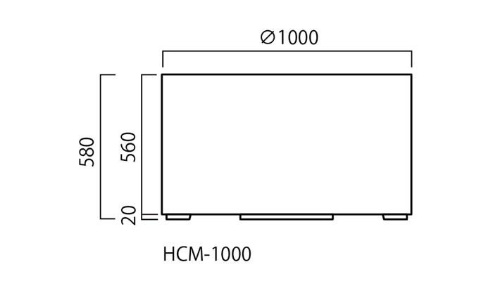 プランター 大型 円形 植木鉢 円柱形 FRPプランター スタンダード M型 シルキーグレー 直径1000×H580mm ガーデニング 園芸用品 【代引不可】