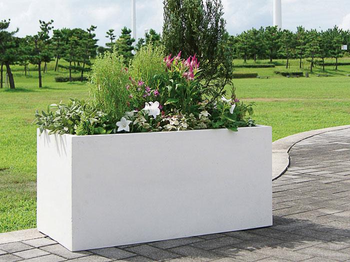 プランター 植木鉢 大型 長方形植木鉢 ファイバープランター ラムダ 80×38.5×38.5cm ガーデニング 園芸用品