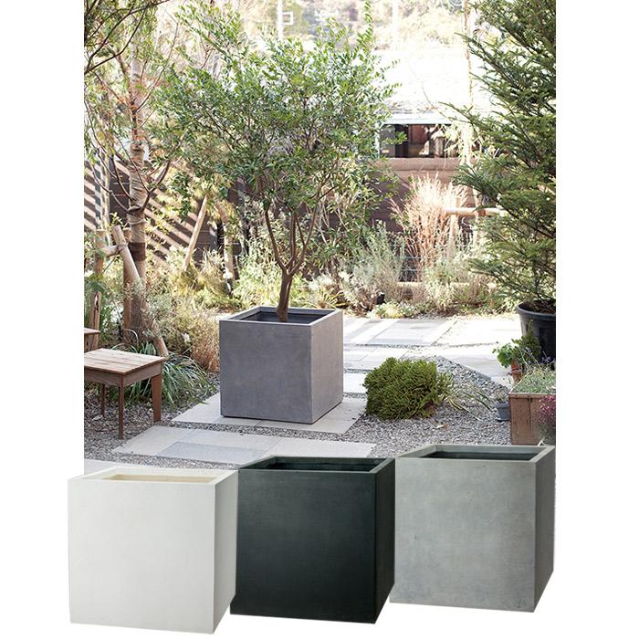 プランター 植木鉢 大型 ファイバープランター ベータ 65×65×65cm ガーデニング 園芸用品