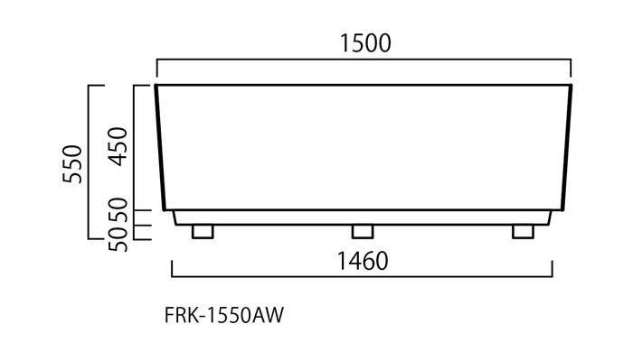 プランター 大型 長方形 植木鉢 大型FRPプランター シリーズ ホワイト W1500×D500×H550mm ガーデニング 園芸用品 【代引不可】
