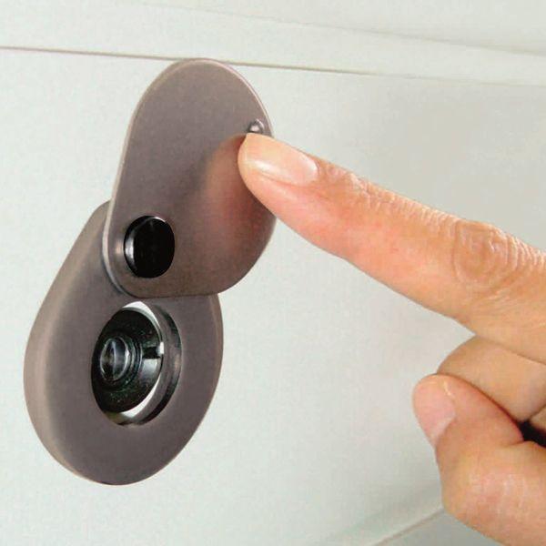 防犯グッズ ドアスコープカバー 玄関ドアののぞき見防止金具 ドアスコープに貼るだけでのぞきや盗撮を防ぐ