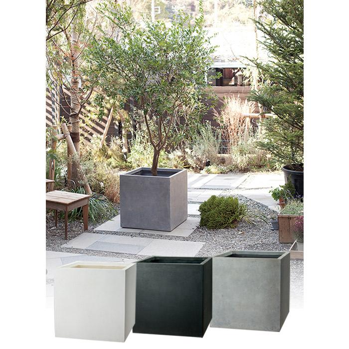 プランター 植木鉢 大型 ファイバープランター ベータ 45×45×45cm ガーデニング 園芸用品