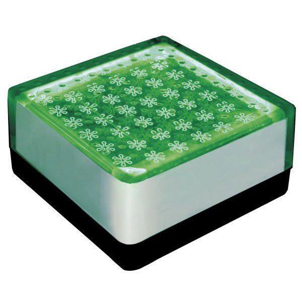ソーラーライト LED 照明 埋込 駐車場 ライト 外灯 角型 SBH100FGR グリーン アプローチライト 誘導灯 照明器具 おしゃれ