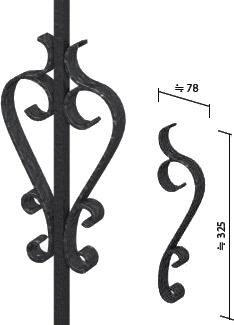 アルミフェンス ヴァレンソールII 唐草装飾単品
