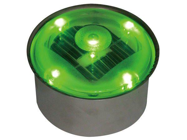ソーラーライト LED 照明 埋込 駐車場 ライト 外灯 丸型 SBH80RGR グリーン アプローチライト 誘導灯 照明器具 おしゃれ