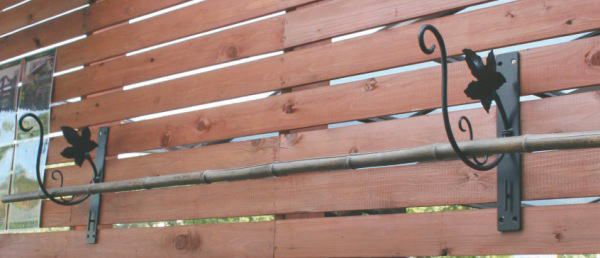 壁掛けフック アイアン壁飾り アイアンフックアイアン ブラケット ランドリーハンガーW-1 2個入りセット ガーデンブラケット