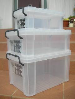 収納ボックス 収納ケース フタ付き プラスチック製 タグボックス03 透明(クリア) 約幅438×奥行293×高さ245mm お買い得12台セット 積み重ね可能 プレート付