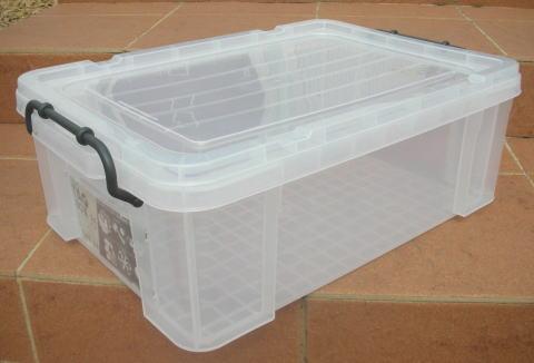 収納ボックス 収納ケース フタ付き プラスチック製 タグボックス04 透明(クリア) 約幅531×奥行361×高さ185mm お買い得8台セット 積み重ね可能 プレート付