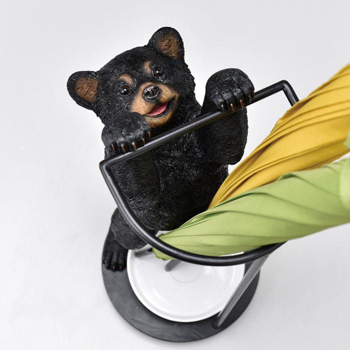 傘立て かさ立て 受け皿付き リトルベア 可愛い おしゃれ 店舗 ガーデンニング雑貨 お祝い 新築祝い 贈り物