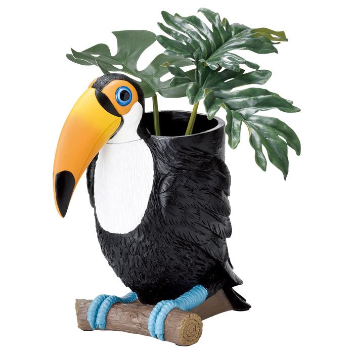 傘立て かさ立て 組立式 トゥーカン 鳥 可愛い おしゃれ 店舗 ガーデンニング雑貨 お祝い 新築祝い 贈り物