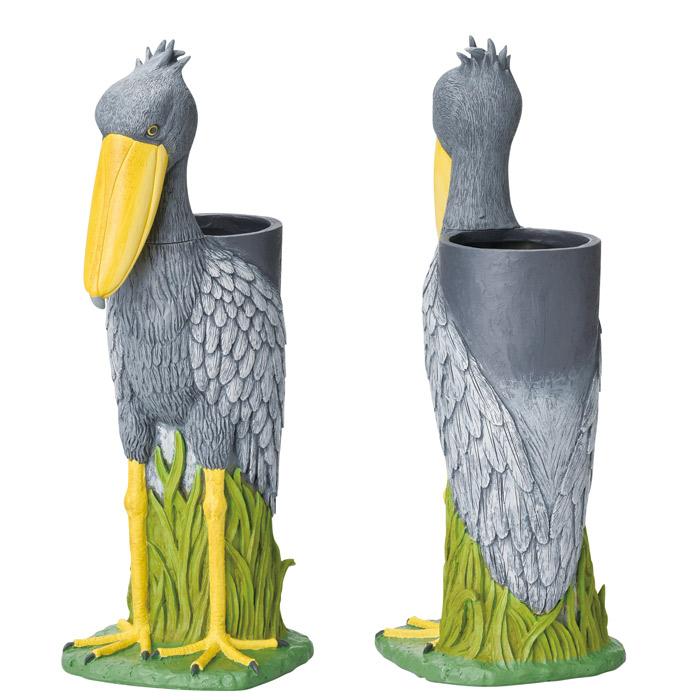 傘立て かさ立て 組立式 ハシビロコウ 鳥 可愛い おしゃれ 店舗 ガーデンニング雑貨 お祝い 新築祝い 贈り物