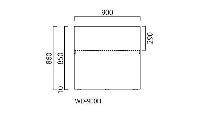 プランター 大型 長方形 植木鉢 FRPプランター モクメ ホワイト木目 W900×D300×H860mm ガーデニング 園芸用品 【代引不可】