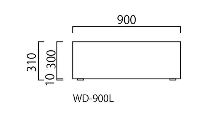 プランター 大型 長方形 植木鉢 FRPプランター モクメ ブラック 木目 W900×D300×H310mm プラスウォーター付 ガーデニング 園芸用品 【代引不可】