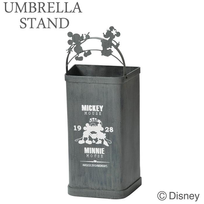 傘立て かさ立て ディズニー ミッキー&ミニー グレー 受け皿付き 可愛い おしゃれ 店舗 ガーデンニング雑貨 お祝い 新築祝い 贈り物
