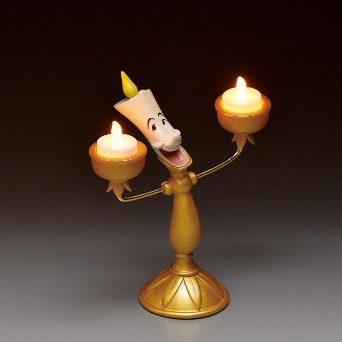 室内 照明 LED インテリアライト ディズニー 美女と野獣 ルミエール ルームランプ 間接照明 インテリア 小物