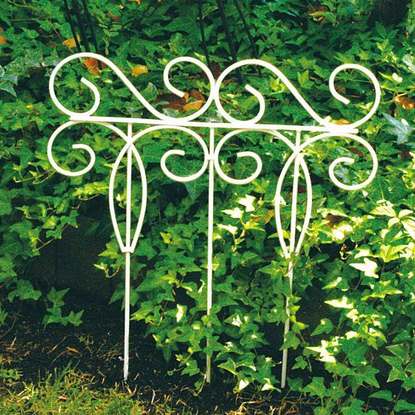 花壇 フェンス ガーデニング ミニフェンス ミニトレリス アイアンフェンス ホワイト 44×50cm