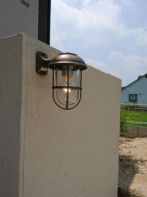 玄関照明 玄関 照明 屋外 門柱灯 門灯 外灯 ポーチライト ポーチ灯 屋外 ブラケット マリンライト BR5000AN CL クリアガラス アンティーク 風 照明 レトロ 照明器具 おしゃれ E26 白熱電球 40W