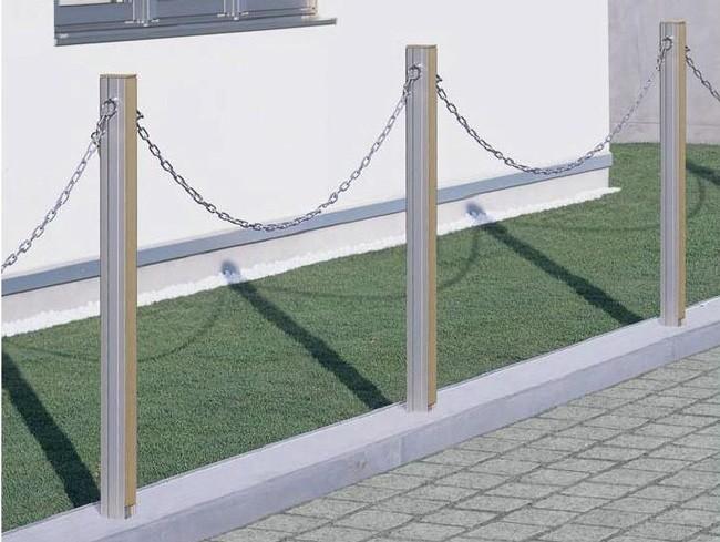 駐車場ポール アルミチェーン 3.0m用チェーンポール 境界フェンス用  駐車場用品