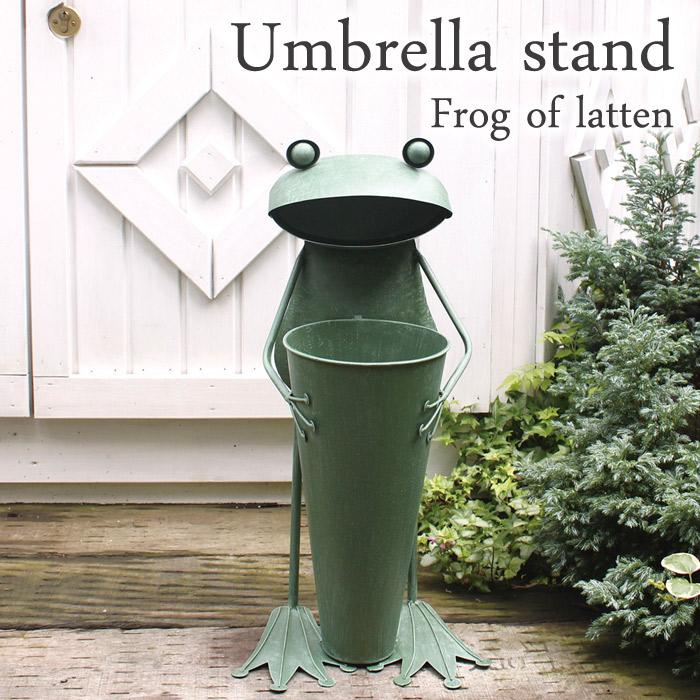 傘立て かさ立て ビッグフロッグ ガーデニング雑貨 ブリキのカエル 蛙 かえるのオブジェ カエル 新築祝い 贈り物