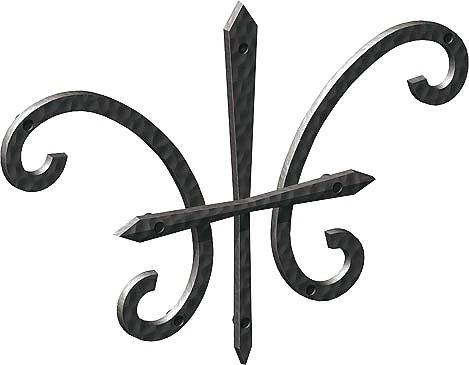 妻飾り 壁飾り妻飾り 27型 シンボル アイアン風壁飾り アルミ鋳物 エクステリア 外壁工事