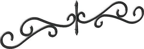 妻飾り 壁飾りワイド型妻飾り 43型 シンボル アイアン風壁飾り アルミ鋳物 エクステリア 外壁工事