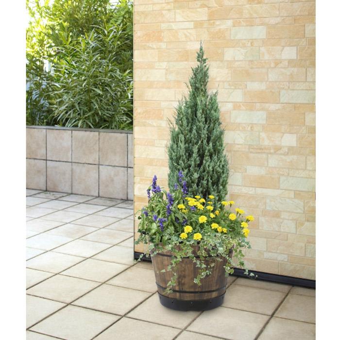 プランター 植木鉢 天然木 ウッドバレルプランター 460 2個セット 直径46cm 木製 特許取得