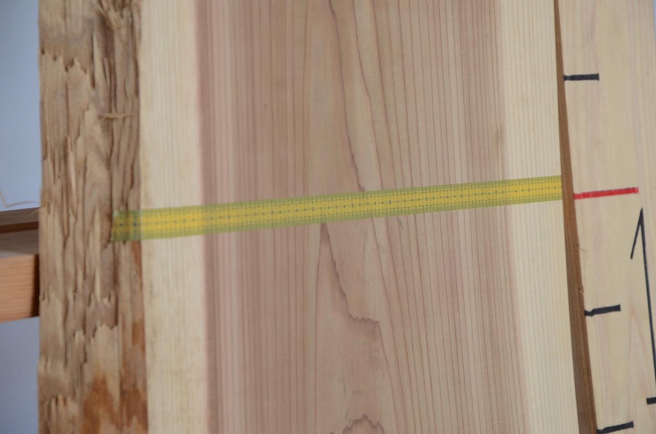 1-003 杉 (スギ) 一枚板 三橋製材所 (あきる野市)