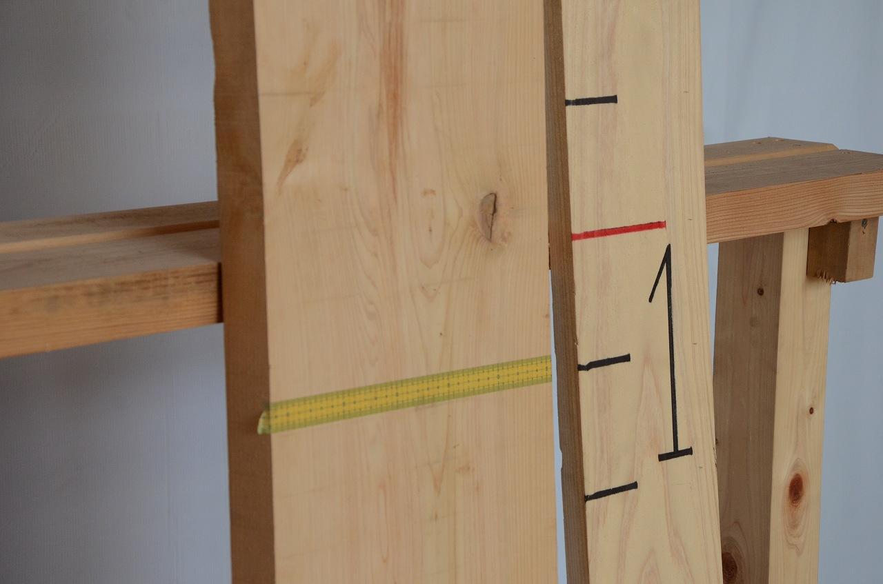 1-015 檜 (ヒノキ) 一枚板 三橋製材所 (あきる野市)