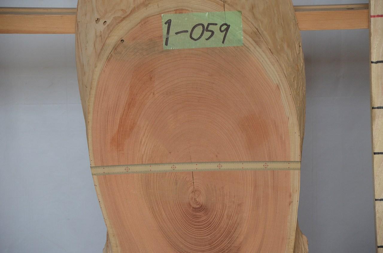 1-059 欅 (ケヤキ) 一枚板 三橋製材所 (あきる野市)