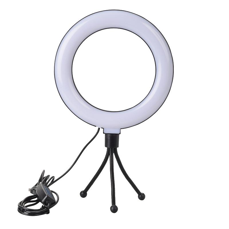 VLOG LEDリングライト6インチ+ミニ三脚