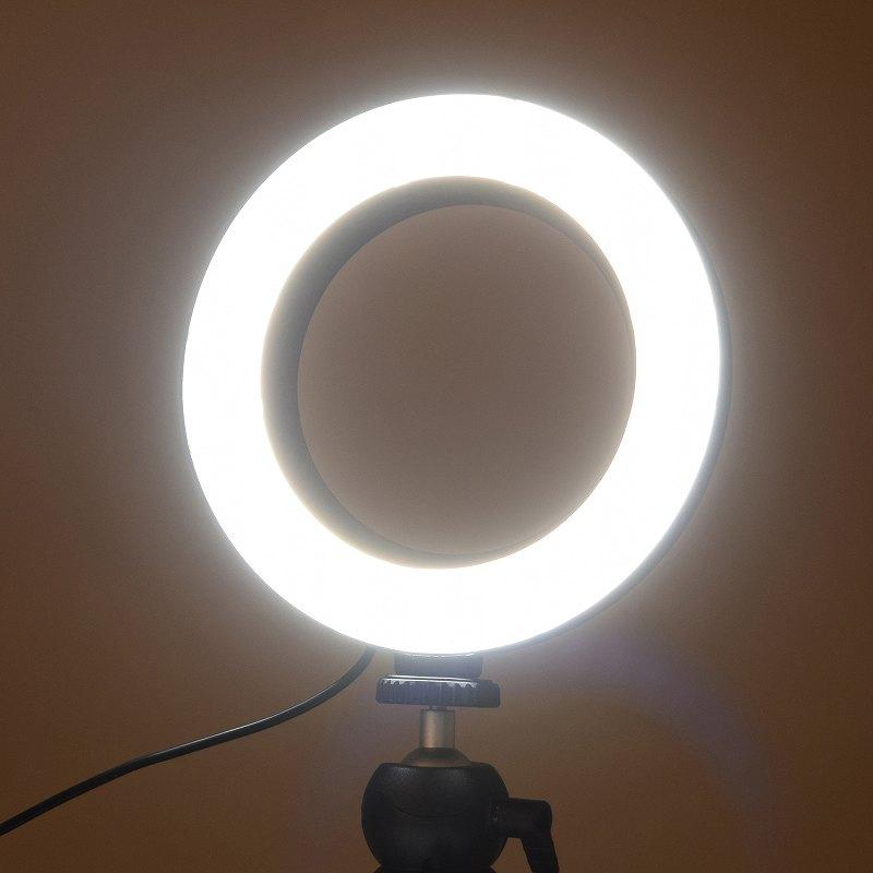 LEDリングライト6インチ