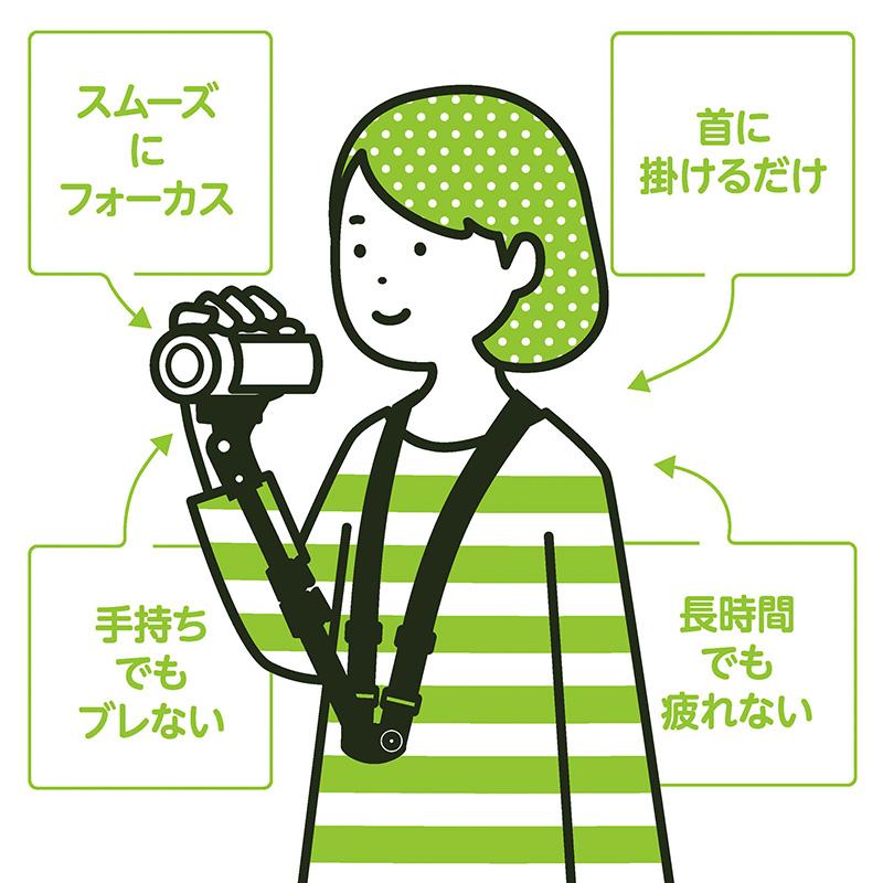 エツミ ビデサポ / ビデオカメラチェストサポート