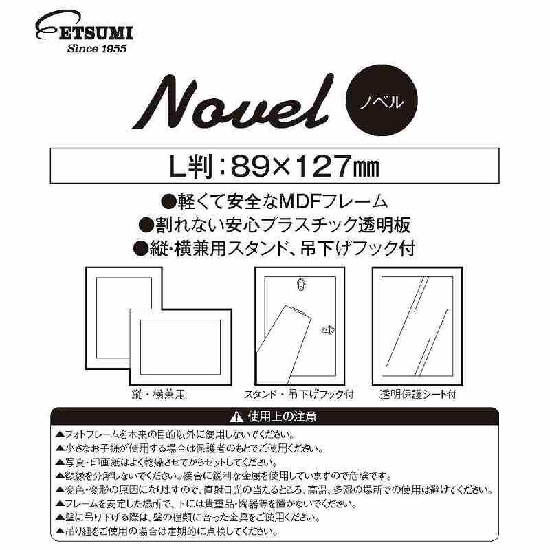 エツミ フォトフレーム Novel ノベル L / プラスチック透明板額縁