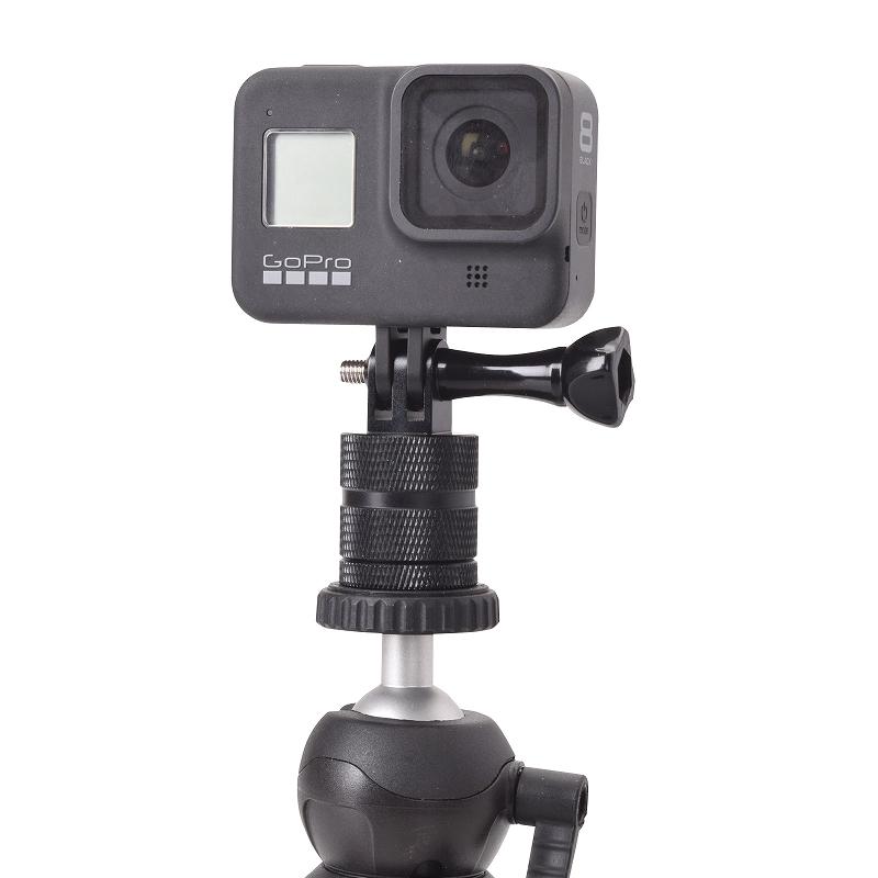 GoPro用アルミ変換アダプター(360°) オス/メス