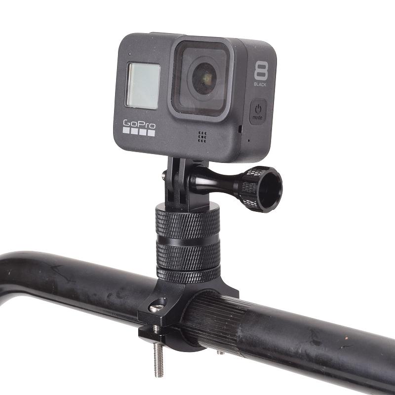 GoPro用アルミハンドルバークランプ(360°)