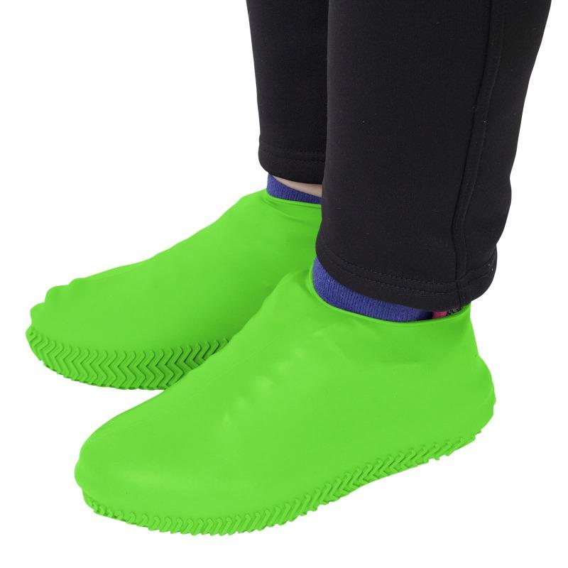 エツミ 防水シューズカバーM / スニーカーや革靴を水や泥汚れから守るシリコン靴カバー