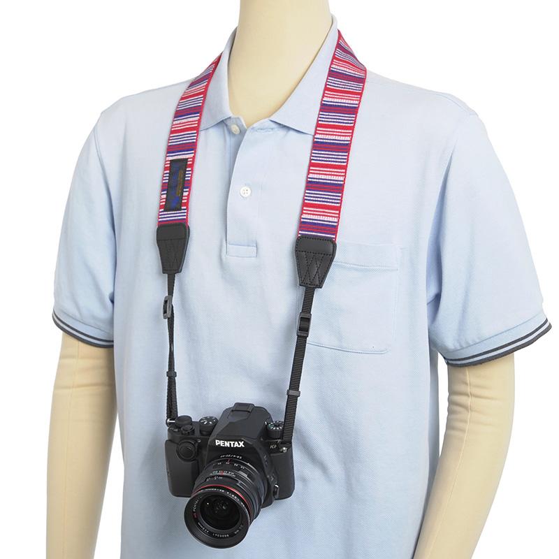 ゲバルト カメラストラップ マルチストライプ (2色) /Gevaert
