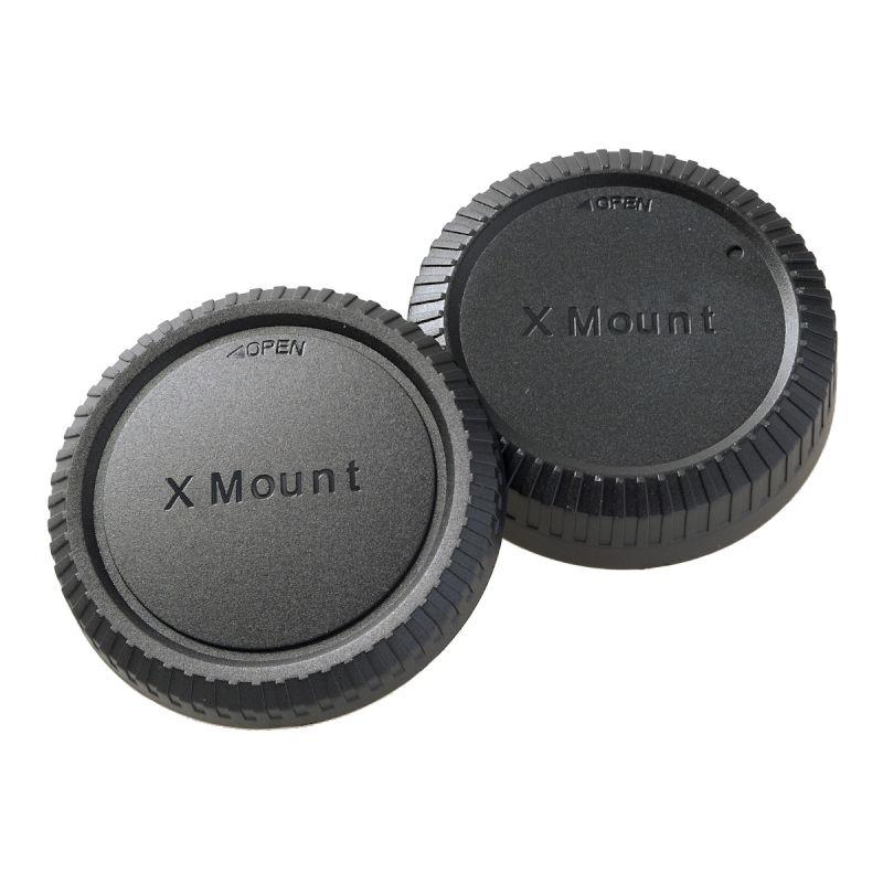 エツミ フジフイルムXマウントボディー&レンズリアキャップ (2種)