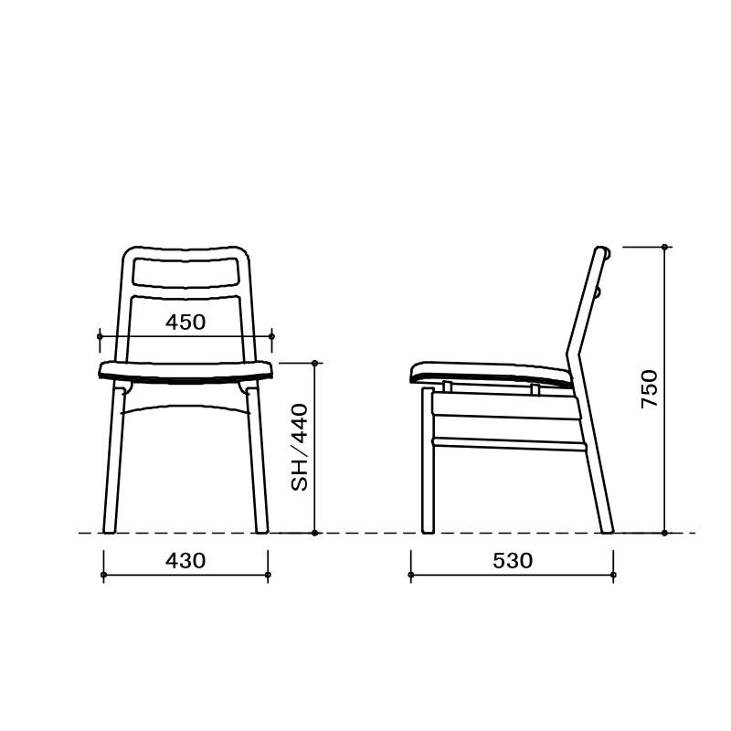 [幅150~190/高さ72] 伸長式 ダイニングテーブルセット スチール脚 ヴィンテージ調(150伸長テーブル、BC02チェア×4)