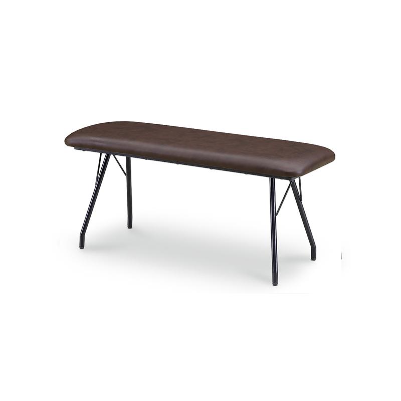 [幅145/高さ70] ダイニングテーブルセット スチール脚 ヴィンテージ調(145テーブル、BC03チェア×2、BC02ベンチ×1)