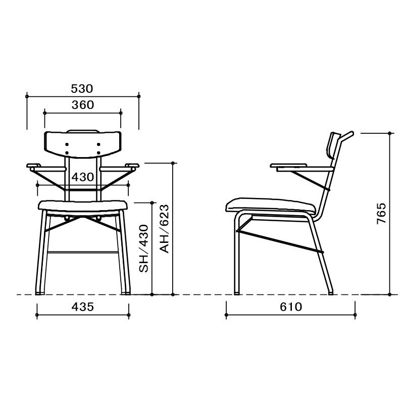 [幅145/高さ70] ダイニングテーブルセット スチール脚 ヴィンテージ調(145テーブル、BC03チェア×4、BC03肘チェア×1)