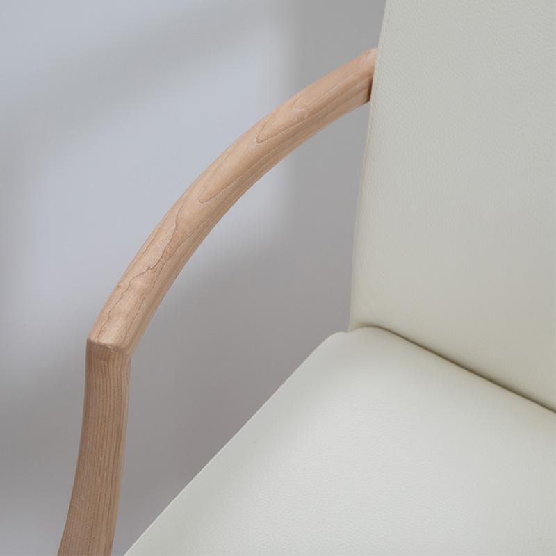 [幅160/高さ70] AR ダイニングセット ダイニングテーブルセット 5点セット 4人掛け オーク BEANS A ( ビーンズ型テーブル , 回転チェア 4脚)