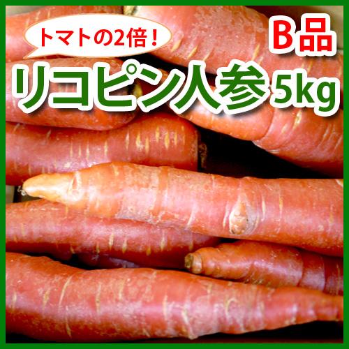 【特別栽培】ジュース用リコピン人参5kg わけあり(京くれない)(熊本産)_s26