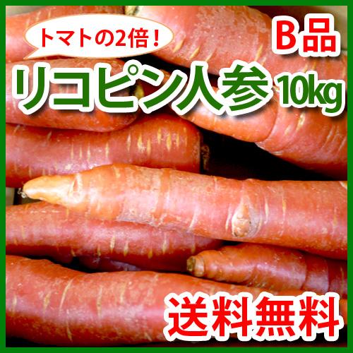 【特別栽培】ジュース用リコピン人参10kg わけあり(京くれない)(熊本産)(送料無料)_s26