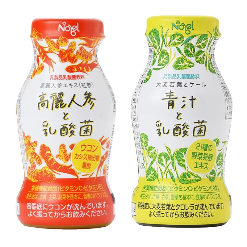 高麗人参と乳酸菌&青汁と乳酸菌の2種セット(95gx12本・各6本)_s25