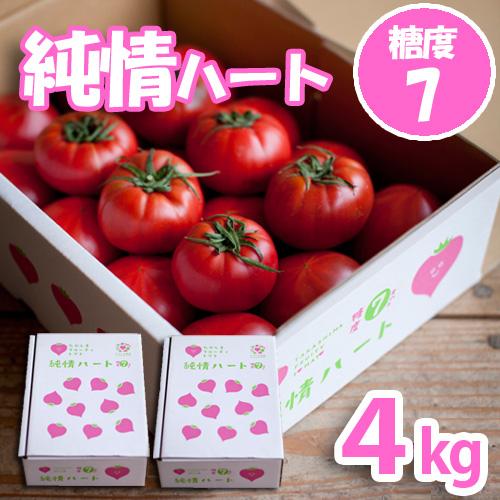 純情ハート4kg(完熟・糖度7度以上)たかしまフルーティトマト(送料無料)<2021年4月5日まで受付>_s28