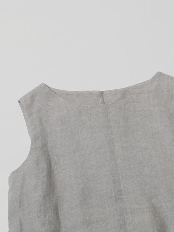 linen sleeveless pullover